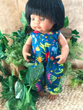 MADE TO ORDER (UP TO 2 WEEKS) Overalls to suit 38cm Miniland Doll - Ellie Whittacker - Crocodalia