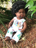 MADE TO ORDER (2 WEEKS MAKE TIME)  Overalls -  to suit 38cm Miniland Doll - Bluey - Portait