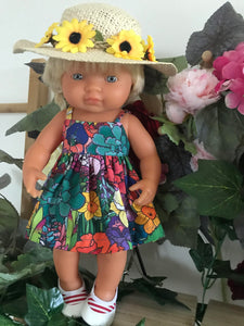 Doll Hat - Yellow Daisy