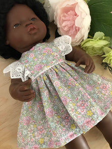 Edith Dress Set to suit 38cm Miniland Doll - Liberty London - Amelie