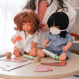 (MADE TO ORDER APPROX 2 WEEKS) Doctor Jacket Set to suit 38cm Miniland doll - White