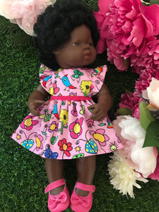 Dress Set to suit 38cm Miniland Doll - Kasey Rainbow - Darcy