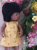 Dress Set - PINNY -  to suit 38cm Miniland Doll -  Little Rascals