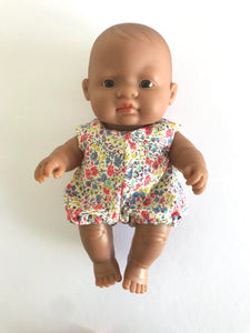 Delilah Romper to suit 21cm Miniland Doll - Liberty London - Pheobe