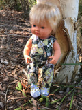 Overalls -  to suit 38cm Miniland Doll -May Gibbs - gossiping Gumnuts
