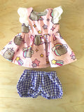 Stephanie Dress Set to suit 32cm Miniland Doll - Pusheen - Unicorn