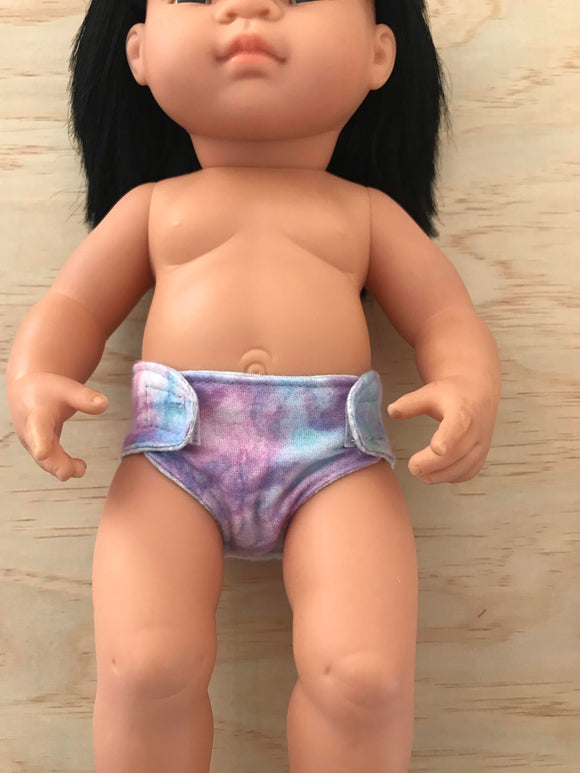 Nappy to suit 38cm Miniland Doll - Mermaid Swish