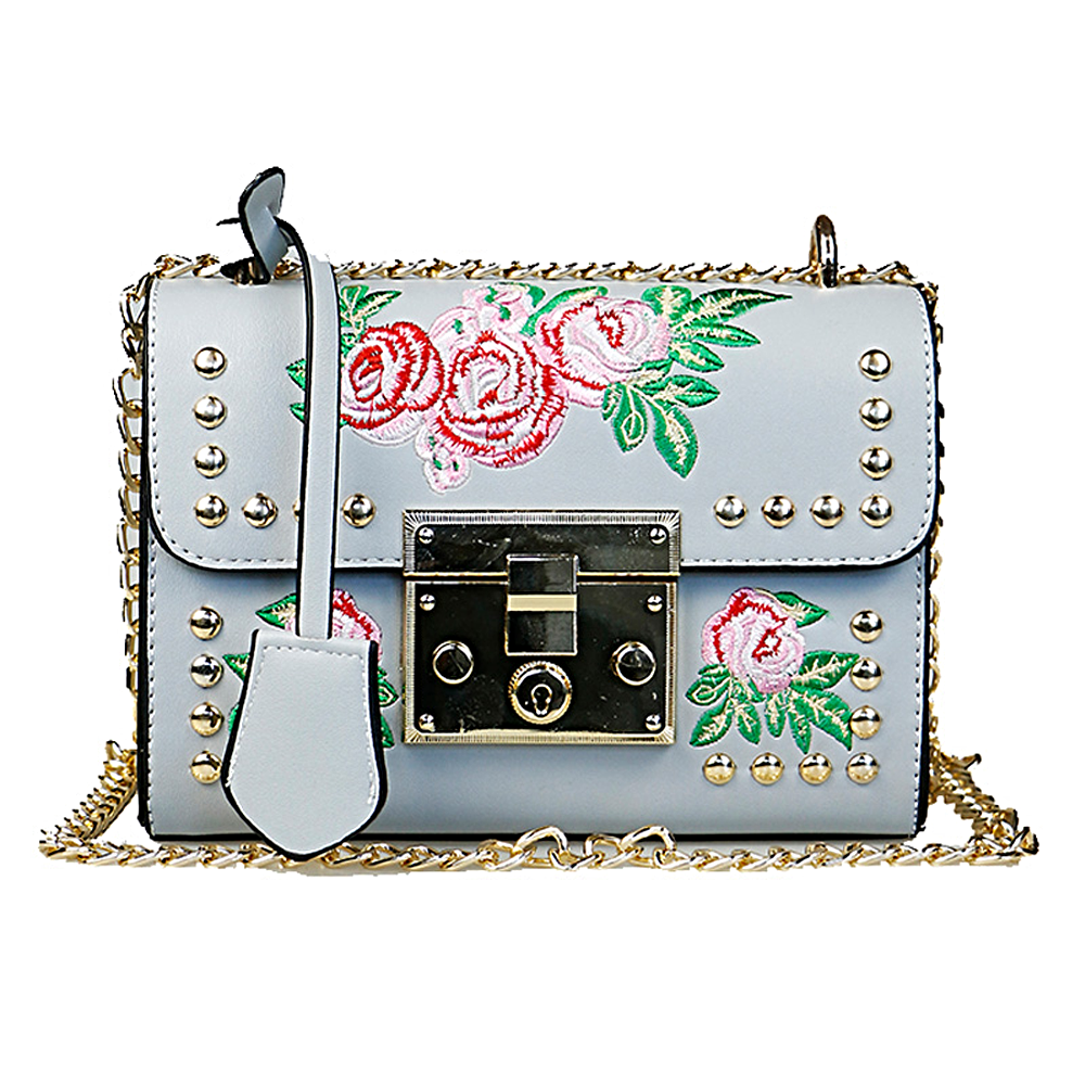 Azalea Embroidery Shoulder Bag