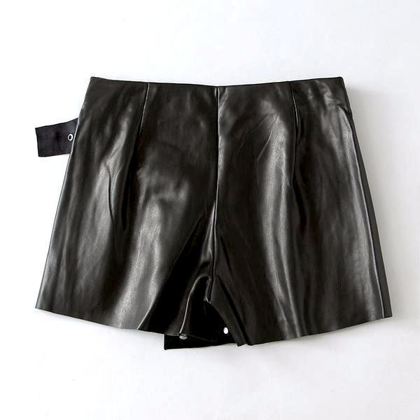 All In 1 Leather Bomb Skorts