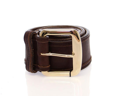 Brown Leather Logo Belt