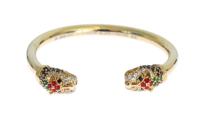 Gold plated 925 Silver Crystal Bangle Bracelet