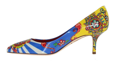 Multicolor Carretto Patent Leather Pumps