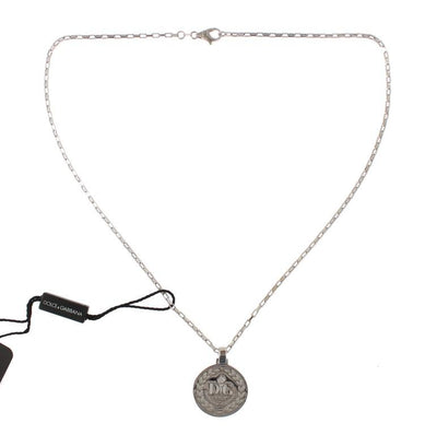 Silver 925 Round Charm Necklace