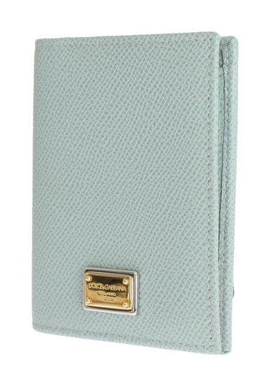 Blue Dauphine Leather Bifold Wallet