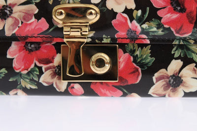 Floral Patent Leather Continental Wallet