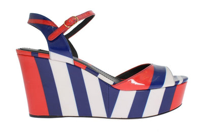 Multicolor Patent Leather Wedges Shoes