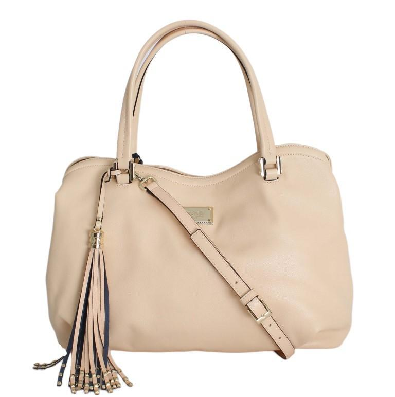 Beige Nude Hand Shoulder PVC Bag