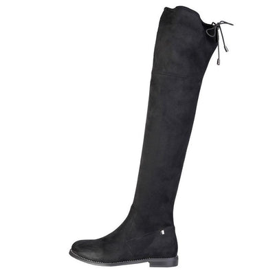 Laura Biagiotti Black Suede Over the Knee Boots