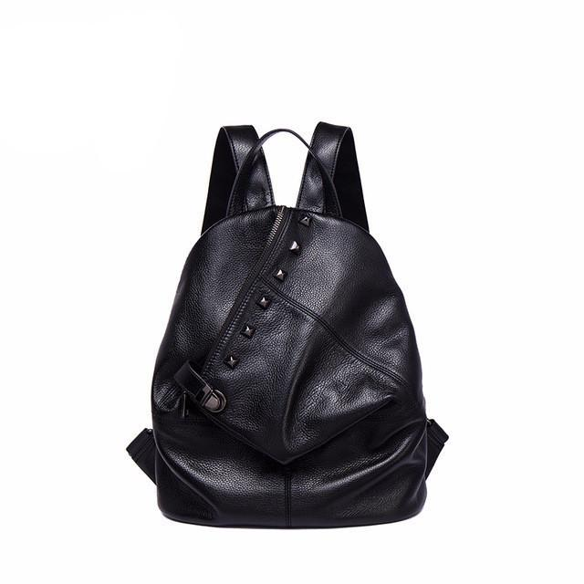 Aloofa Genuine Leather Backpack