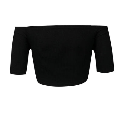 Off The Shoulder Black Crop Top