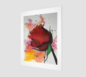 Splatter Rose Art Print