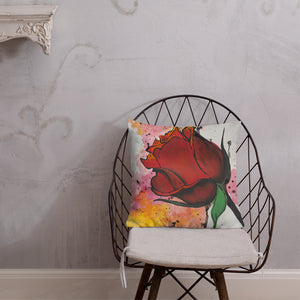 Splatter Rose Premium Pillow