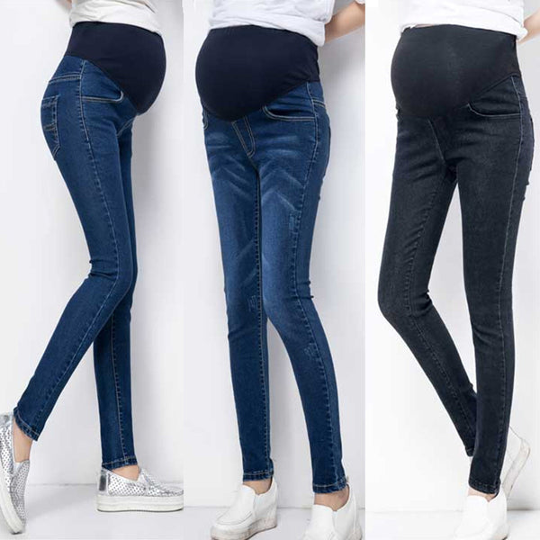 Mariana Cotton Maternity Jeans Belly Elastic Thin Trousers Denim Pants