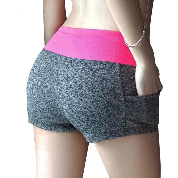 Elastic Waist Casual Sporting Women's Shorts Printed Quick Dry Fitness Short Pants - elatestore
