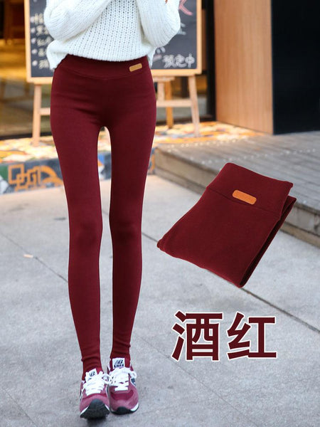 2016 New Fashion High Elastic Waist Winter Plus Thicken Women's Leggings Warm Pants Good Quality Thick Trousers Female