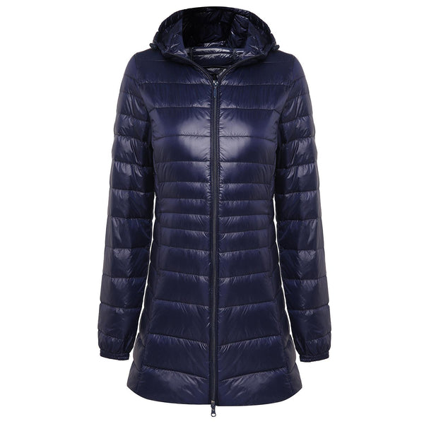 long down coat with hood womens