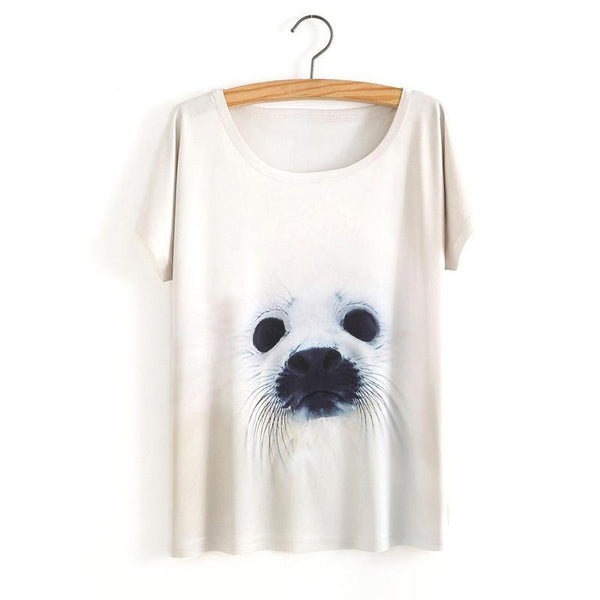 Women Animal Design T Shirt Tops Hot Sales Tee Shirts-elatestore -elatestore