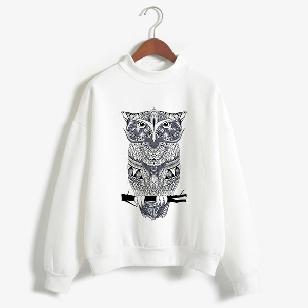 Women Warm Top Shirt Cashmere Sweater Cartoon Print Pullover-elatestore -elatestore