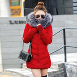 Fashion Wadded Jacket Slim Warm Down Cotton Coat Long Sleeve Parkas - elatestore