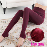 2018 New Autumn And Winter Plus Velvet Thickening Leggings Woman Thin Outer Clothes Step On Opponent's Keep Warm One - elatestore