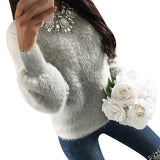 Women Warm Winter Casual Sweater Loose Velvet Tops-elatestore -elatestore