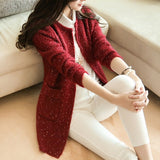 Women Casual Coat Warm Sweater Long Sleeve Knitted Cardigans - elatestore