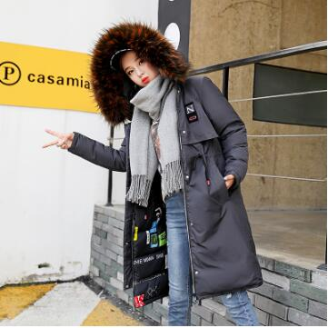 Warm Big Fur Collar Jacket Double Face Parka Cotton Slim Thick Coat-elatestore-elatestore