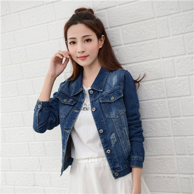 Natasha Denim Casual Long Sleeve Jeans Jacket-elatestore-elatestore