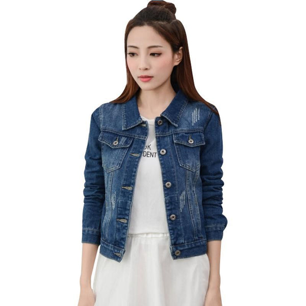 8 Styles S-XXL Denim Jacket Women 2017 Spring Fall Women Basic Jacket Fashion Long Sleeve Jeans Coat casacos femininos