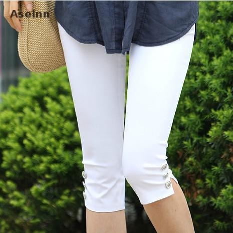 Aselnn Hot! 2017 Summer Pants & Capris Women Fashion Mid Waist Casual Capris Plus Size Ladies Pencil Pants Female S-3xl - elatestore