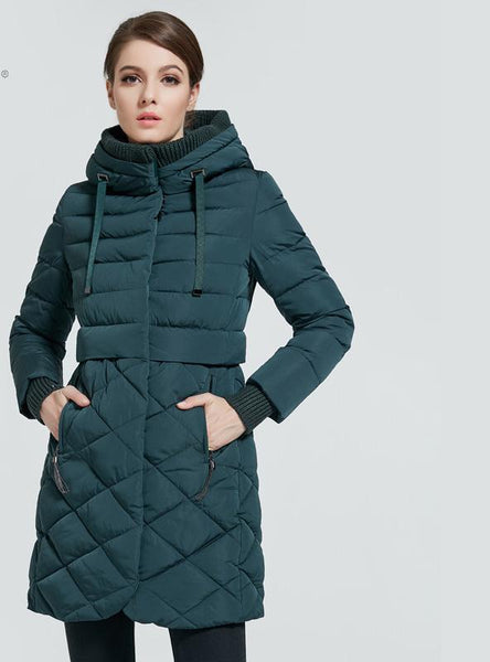 Athena Special 2017 Winter Thick Outwear Coat Women Winter Woman Parka Bio Down Thickening Hooded Jacket for Women High quality