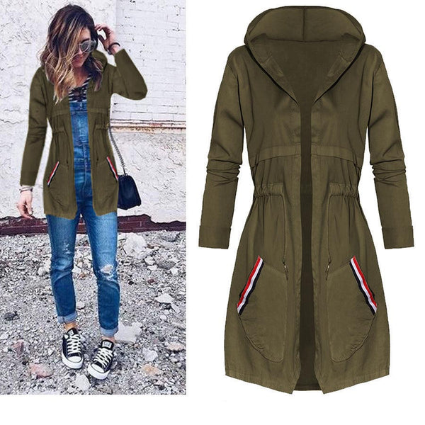 Autumn Winter Long Jackets and Coats Jaqueta Feminina 2018 Spring Fashion Female Hooed Coat Casual Jacket Women Basic Jackets - elatestore