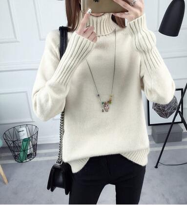 Autumn Winter Turtleneck Sweater Women New Design Green Thick Tricot Women Sweater And Pullover Female Jumper Tops - elatestore
