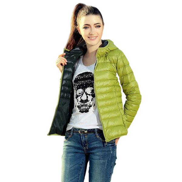 Autumn Winter Warm Women Basic Jacket Coat Lady Slim Hooded Cotton Coats Casual Jackets - elatestore