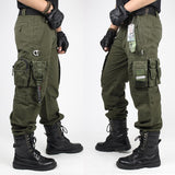 CARGO PANTS Overalls Men's Army Clothing TACTICAL PANTS MILITARY Knee Pad Male US Combat Camouflage Army Style Straight Trousers