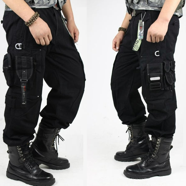 CARGO PANTS Overalls Men's Army Clothing TACTICAL PANTS MILITARY Knee Pad Male US Combat Camouflage Army Style Straight Trousers - elatestore