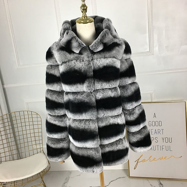 560dffa91a5c7 ... Talia Hooded Real Fur Long Coat-elatestore -elatestore