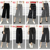 Casual Wide Leg High Waist Loose Elastic Waist Harem Pants Trousers - elatestore