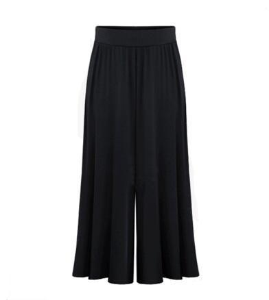 2019 Plus Size Xl 6xl Summer Women Clothing Wide Leg Loose Dress Pants Female Skirt Trousers Capris Culottes Pantalon-elatestore-elatestore