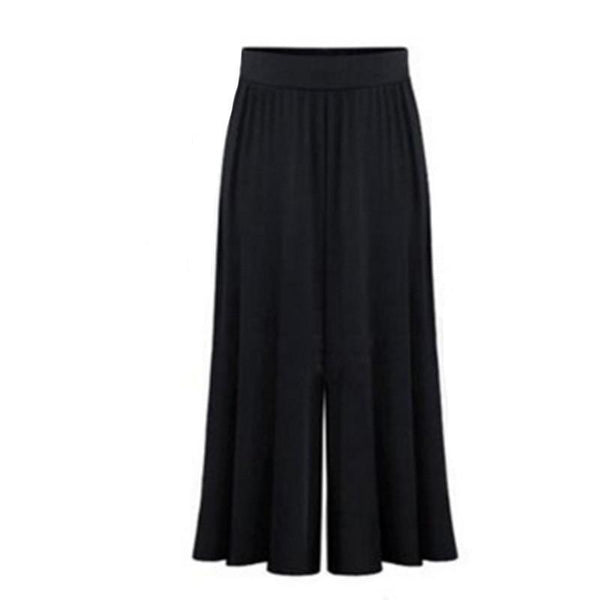 2018 Plus size XL-6XL Summer Women Clothing Wide Leg Loose Dress Pants Female Skirt Trousers Capris Culottes Pantalon